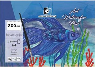 Alex Schoeller A4 Art Watercolor Blok İnce Dokulu Ekstra White 300g 12 Yp