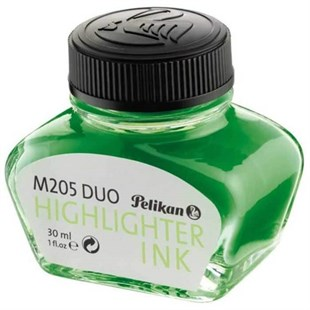 Pelikan M205 Duo High Lighter Ink Yeşil Fosforlu Dolma Kalem Mürekkebi